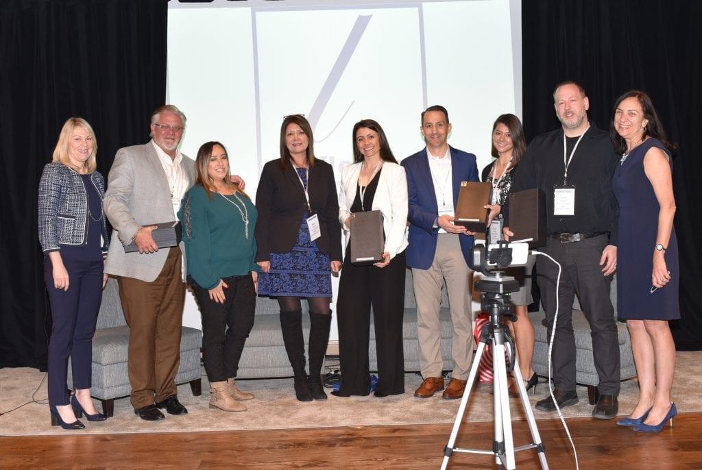 Atlantic Lottery's Scott Eagles was on-site to receive the 2018 Fleurry award. / Scott Eagles, de Loto Atlantique, était sur place pour recevoir le prix Fleurry 2018.