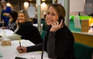 AL employees volunteer at the 8th annual Radiothon for The Moncton Hospital / Des employées de la Loto ont fait du bénévolat au 8e Radiothon annuel pour L'Hôpital de Moncton
